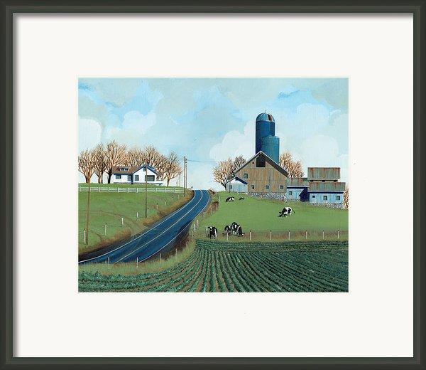 Family Dairy Framed Print By John Wyckoff