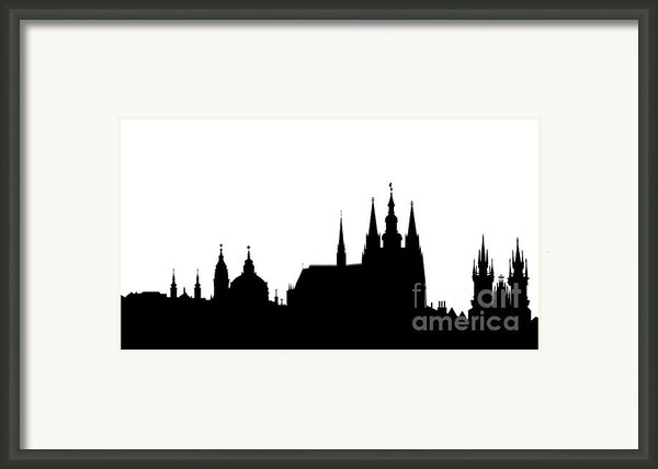 Famous Landmarks Of Prague Framed Print By Michal Boubin