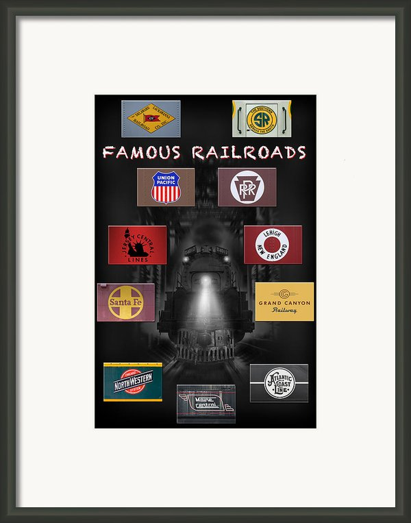 Famous Railroads Framed Print By Mike Mcglothlen