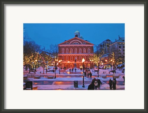 Faneuil Hall Holiday- Boston Framed Print By Joann Vitali