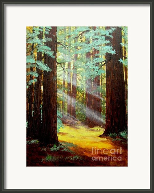 Farewell  Bend         Framed Print By Shasta Eone