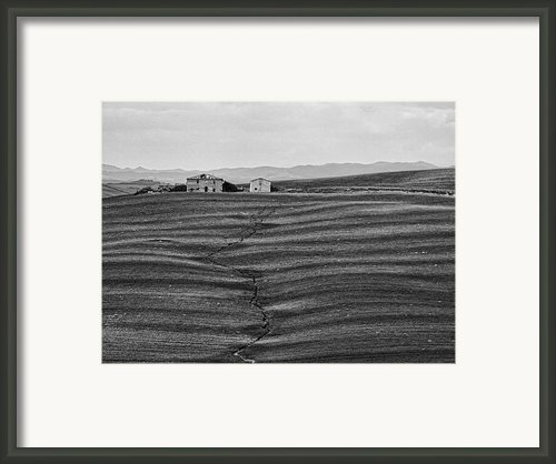 Farm Sienna Framed Print By Hugh Smith