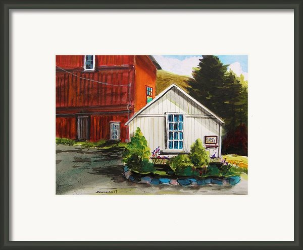 Farm Store Framed Print By John  Williams