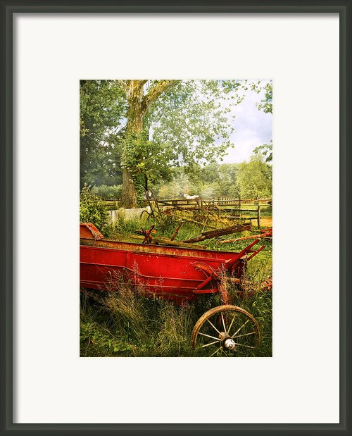 Farm - Tool - A Rusty Old Wagon Framed Print By Mike Savad