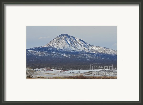 Farmland Under The Mountain Framed Print By Meandering Photography