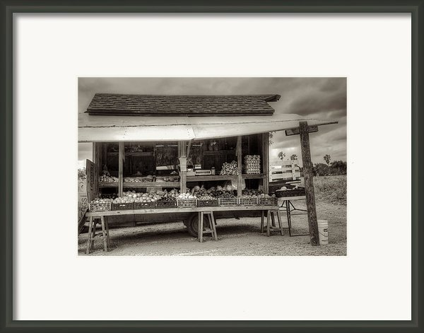 Farmstand Framed Print By William Wetmore