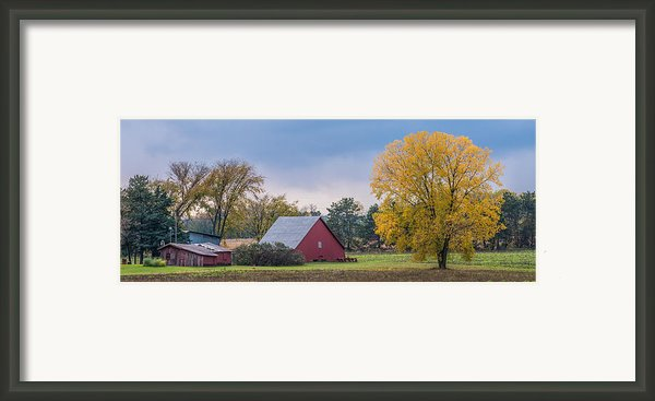 Farmstead With Fall Colors Framed Print By Paul Freidlund