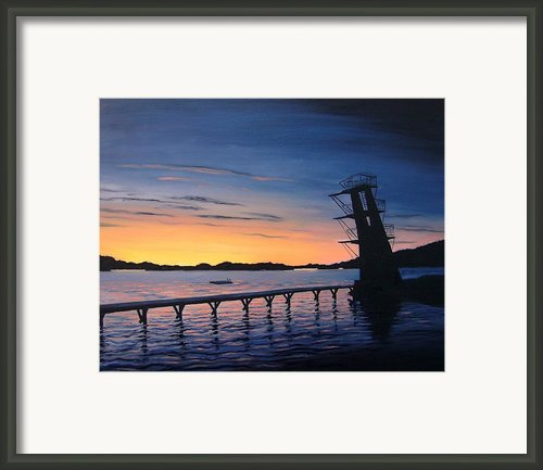 Farsund Badehuset At Sunrise Framed Print By Janet King