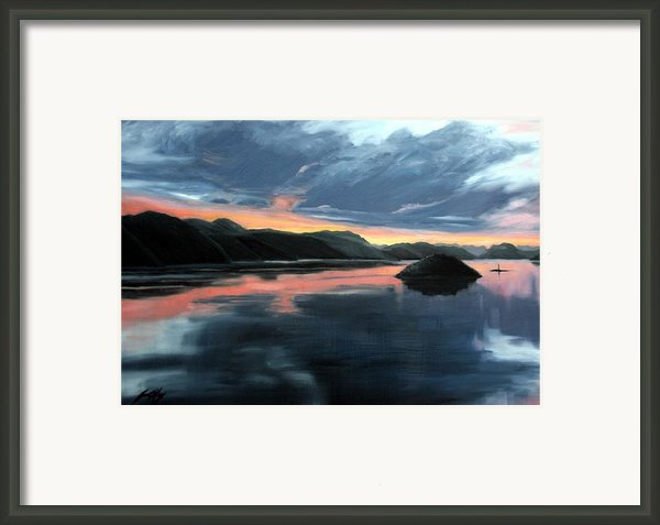 Farsund Sunrise Framed Print By Janet King
