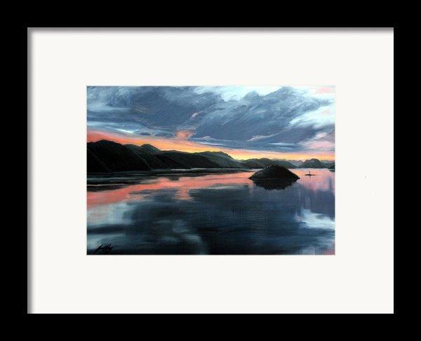 Farsund Sunrise Framed Print By Janet King