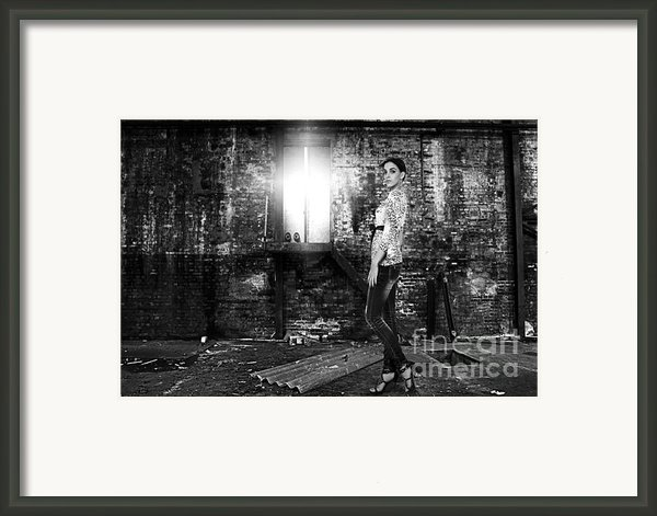 Fashion Model In Jeans  Framed Print By Milan Karadzic