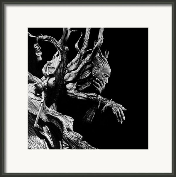 Father Time Framed Print By Brent Schreiber