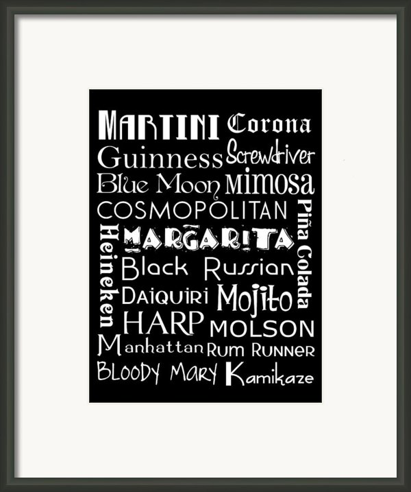 Favorite Drinks  Framed Print By Jaime Friedman