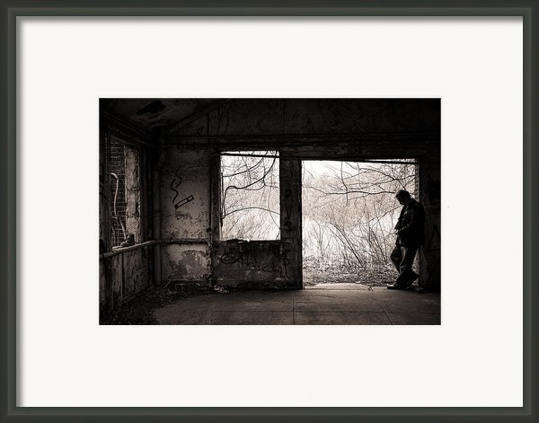 February - Comfortable Seclusion - Self Portrait Framed Print By Gary Heller