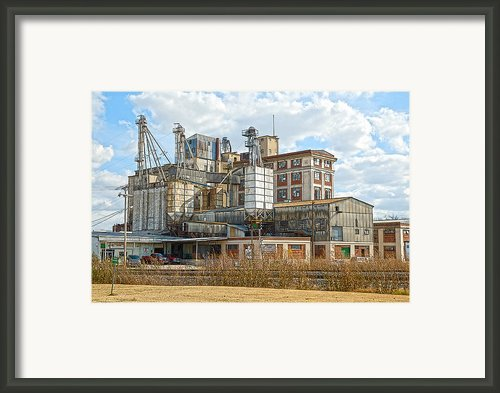 Feed Mill Hdr Framed Print By Charles Beeler
