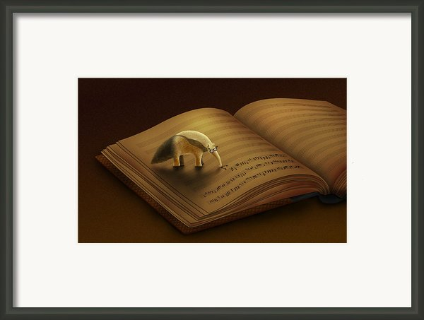 Feeding On The Music Framed Print By Sanely Great
