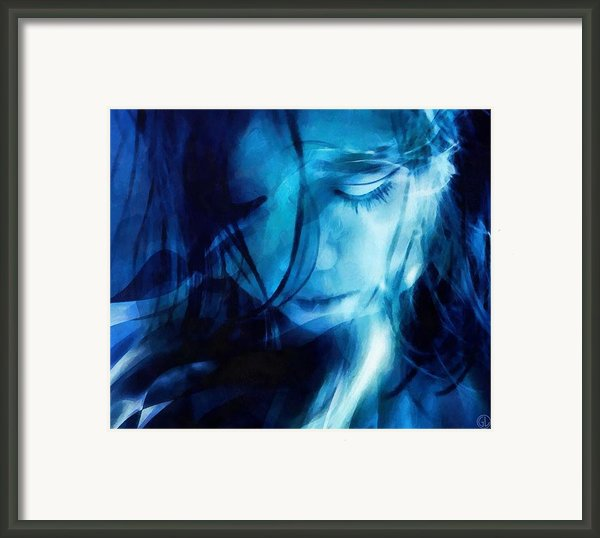 Feeling A Little Blue Framed Print By Gun Legler