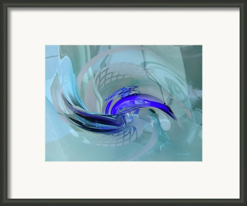 Feeling Tiffany Blue Framed Print By Donna Blackhall