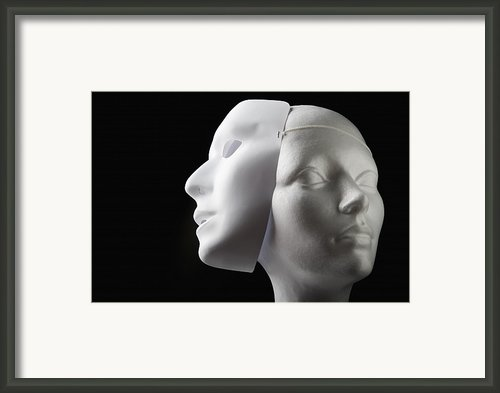 Female Mannequin And Mask Framed Print By Kelly Redinger