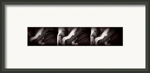 Fender Bass Framed Print By Bob Orsillo