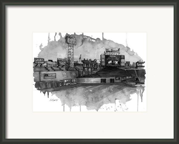 Fenway Bw Framed Print By Michael  Pattison