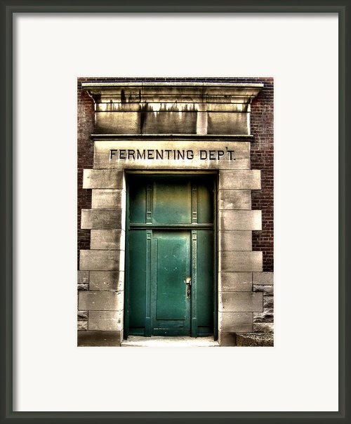Fermenting Department Framed Print By Jane Linders
