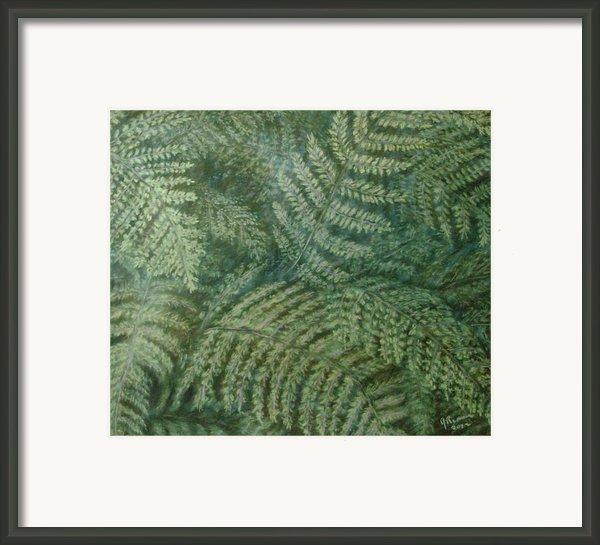 Fern Frenzy Framed Print By Joann Renner