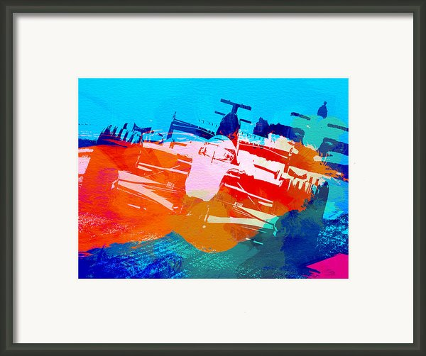 Ferrari F1 Racing Framed Print By Irina  March