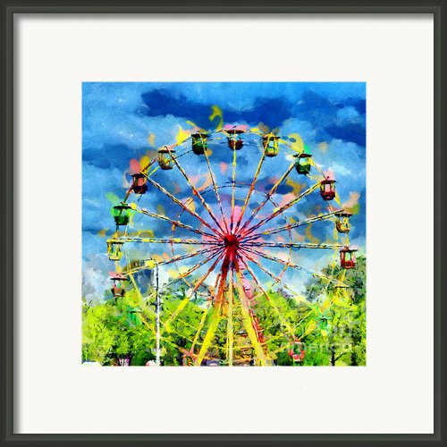 Ferris Wheel Painting Framed Print By Magomed Magomedagaev