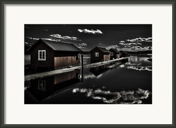 Fetsund Timber Booms Part I Framed Print By Erik Brede