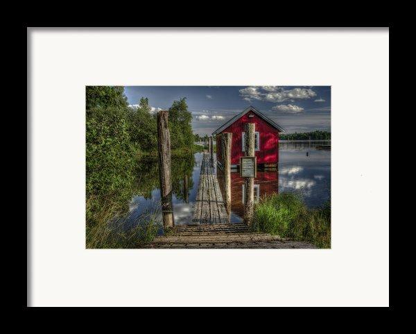 Fetsund Timber Booms Part Ii Framed Print By Erik Brede