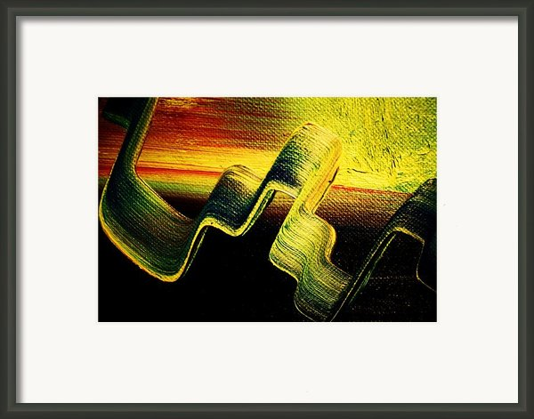 Fictional Erratic Rings Of Saturn Framed Print By Michael Kulick