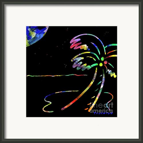Fiery Palm V Moonglow Framed Print By D S Thornton