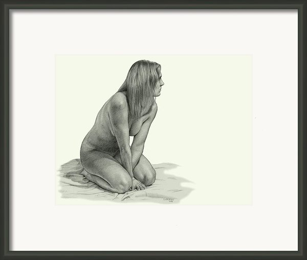 Figure Drawing Framed Print By Dirk Dzimirsky