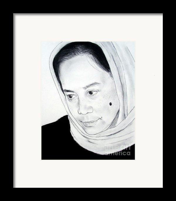 Filipina Beauty With A Facial Mole Framed Print By Jim Fitzpatrick