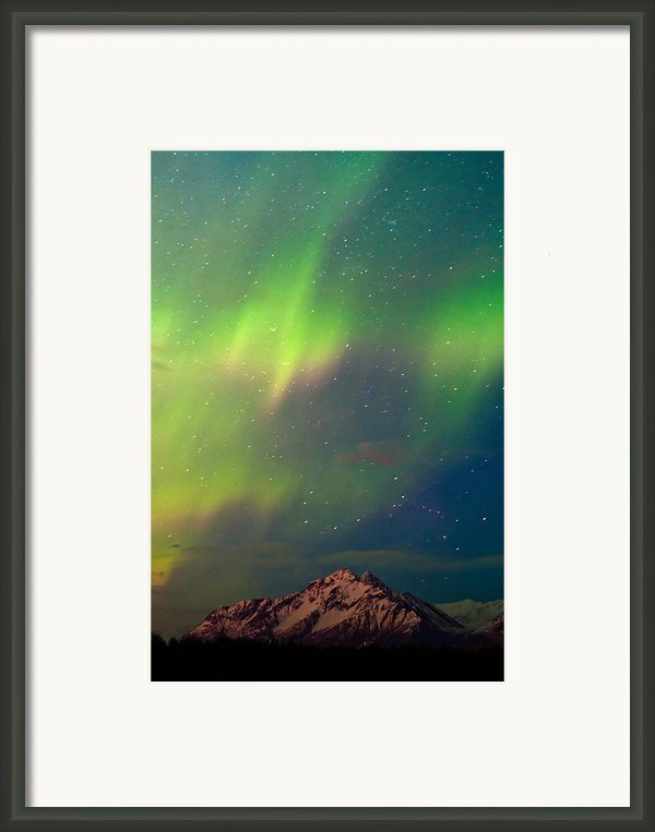 Filled With Aurora Framed Print By Ron Day
