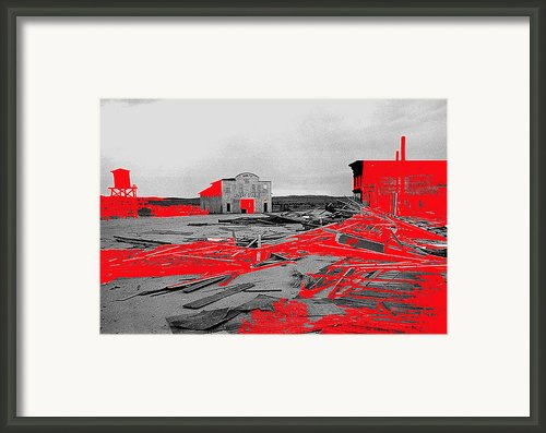 Film Homage High Plain Drifter 1973 Monte Walsh Set Windstorm Mescal Arizona 1969-2012 Framed Print By David Lee Guss