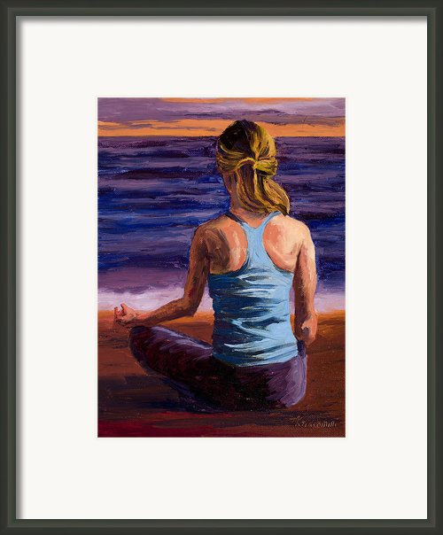 Finding Peace Sukhasana Framed Print By Mary Giacomini