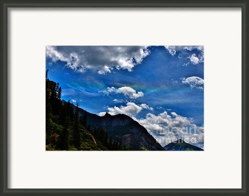 Fire Above The Mountain Framed Print By Janice Rae Pariza