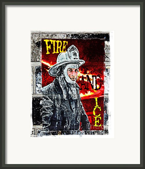 Fire And Ice Graffiti Art Framed Print By Andrew Govan Dantzler