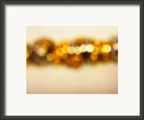 Fire Dance - Warm Sparkling Abstract Art Framed Print By Sharon Cummings