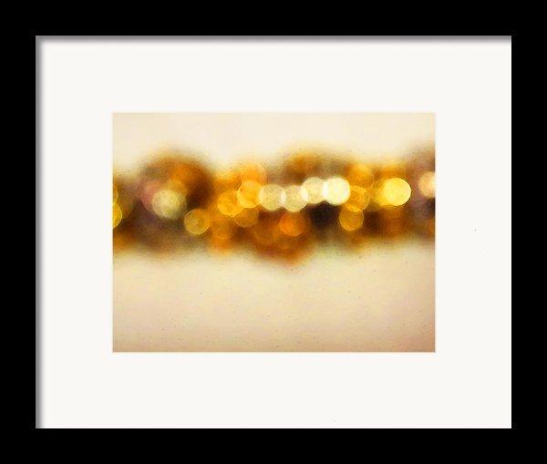Fire Dance - Warm Sparkling Abstract Art Framed Print By Sharon Cummings