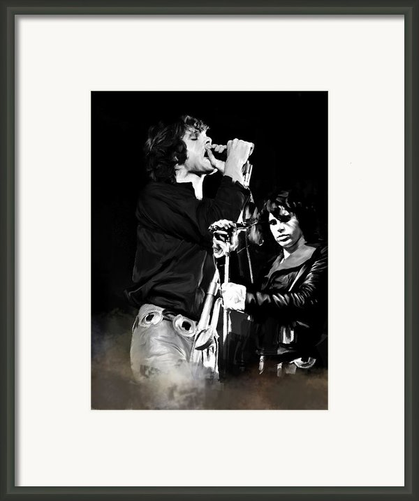 Fire In A Storm  Jim Morrison Framed Print By Iconic Images Art Gallery David Pucciarelli