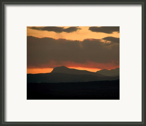 Fire In The Sky Framed Print By Jon Burch Photography