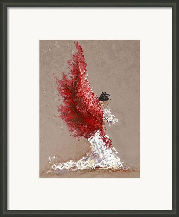 Fire Framed Print By Karina Llergo Salto
