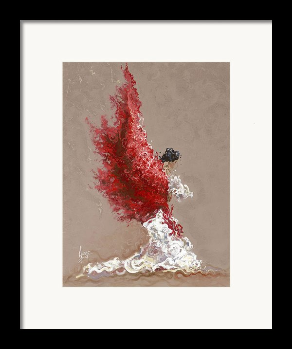 Fire Framed Print By Karina Llergo Salto