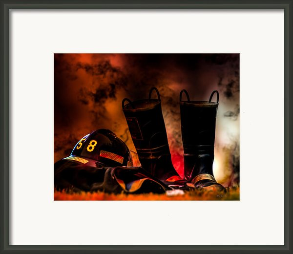 Firefighter Framed Print By Bob Orsillo