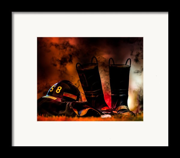 Firefighter Framed Print By Bob Orsillo