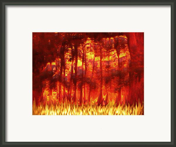 Fireline Framed Print By Wendy J St Christopher