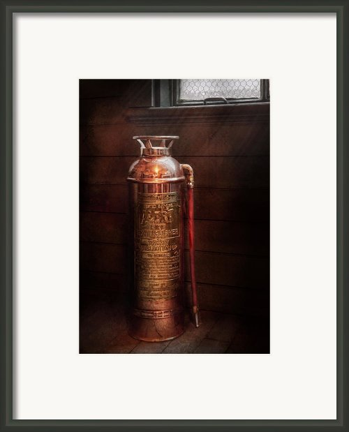 Fireman - Alert  Framed Print By Mike Savad